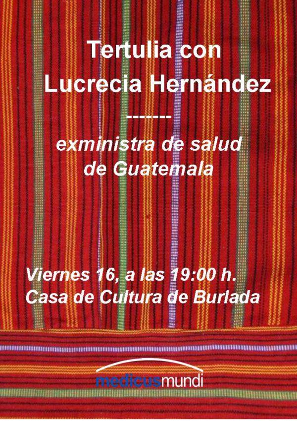 Tertulia con la exministra de salud de Guatemala