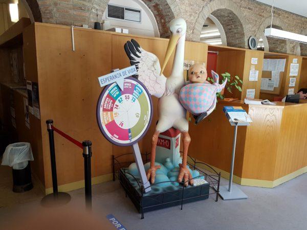 """Exposición de ninots falleros """"El reto de la equidad en salud"""""""