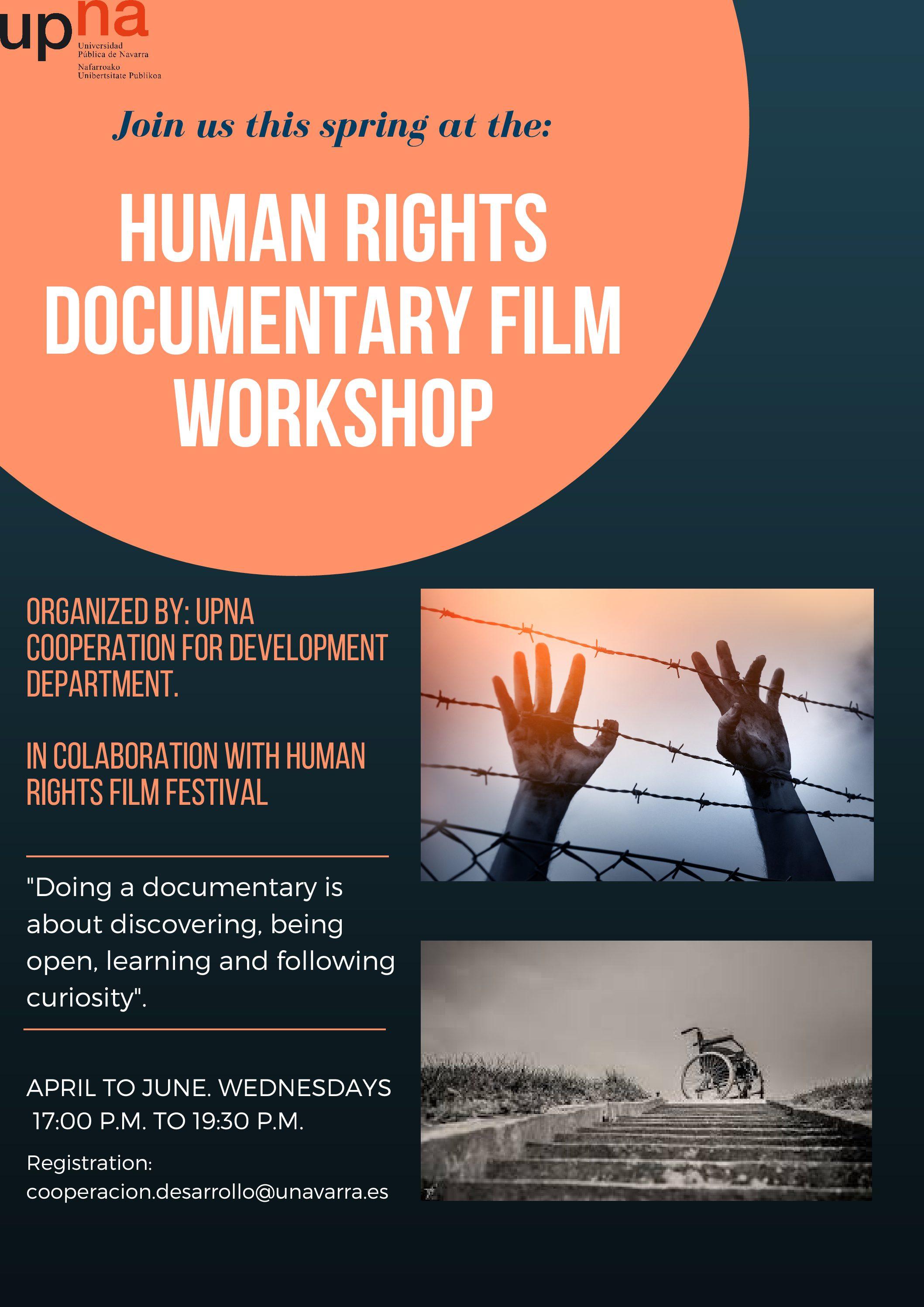 Taller de documentales sobre Derechos Humanos / Human Rights documentary film workshop (abierta inscripción)