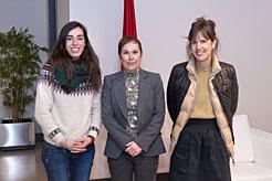 La Presidenta Barkos conoce los objetivos de la campaña mundial por la Educación en Navarra 2018