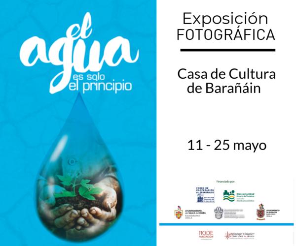 """Exposicion fotográfica """"El agua es solo el principio"""""""