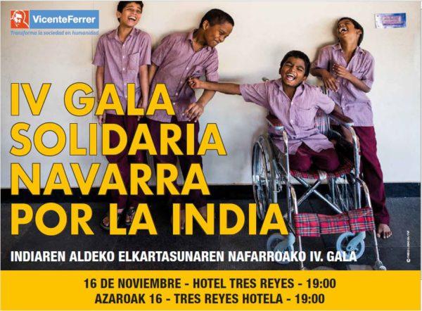 IV Gala Solidaria Navarra por la India de la Fundación Vicente Ferrer.