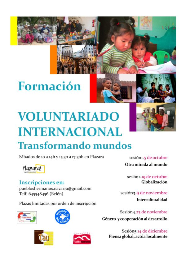 "Formación ""Voluntariado Internacional"". Transformando mundos (5 sesiones)"