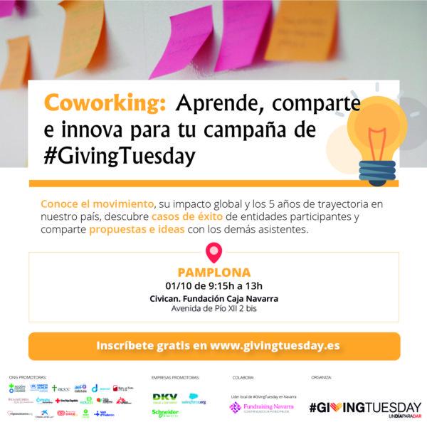 Coworking: aprende, comparte e innova para tu campaña de #GivingTuesday