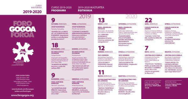 Programación anual Foro Gogoa 2019/2020