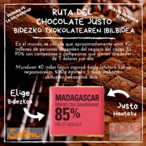 Ruta del chocolate justo / Bidezko txokolatearen Ibilbidea